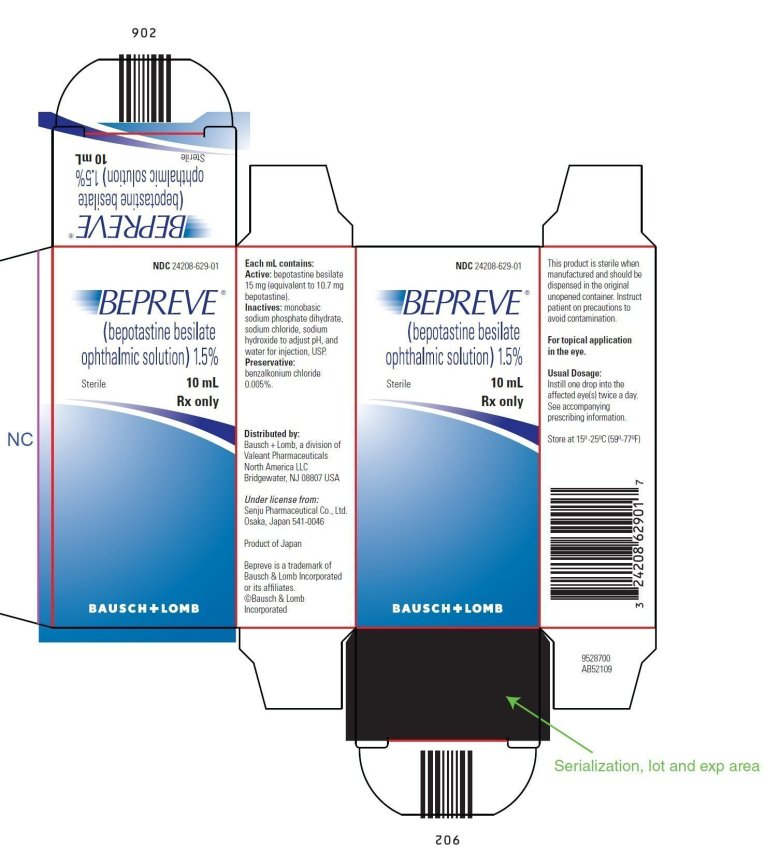 Bepreve Bepotastine Besilate Solution Drops