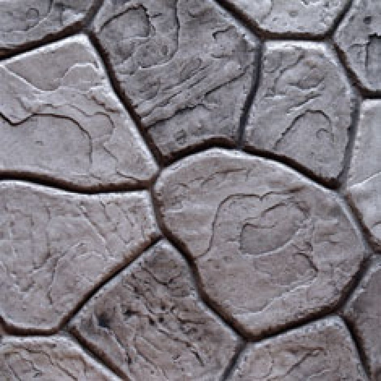 Stamped concrete patterns.