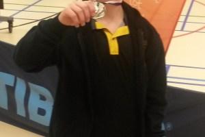 Bram met zijn medaille