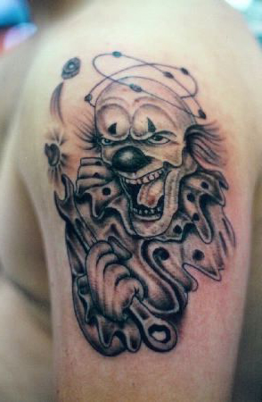 Mechanic evil clown tattoo best tattoo ideas for Mechanic tattoo ideas