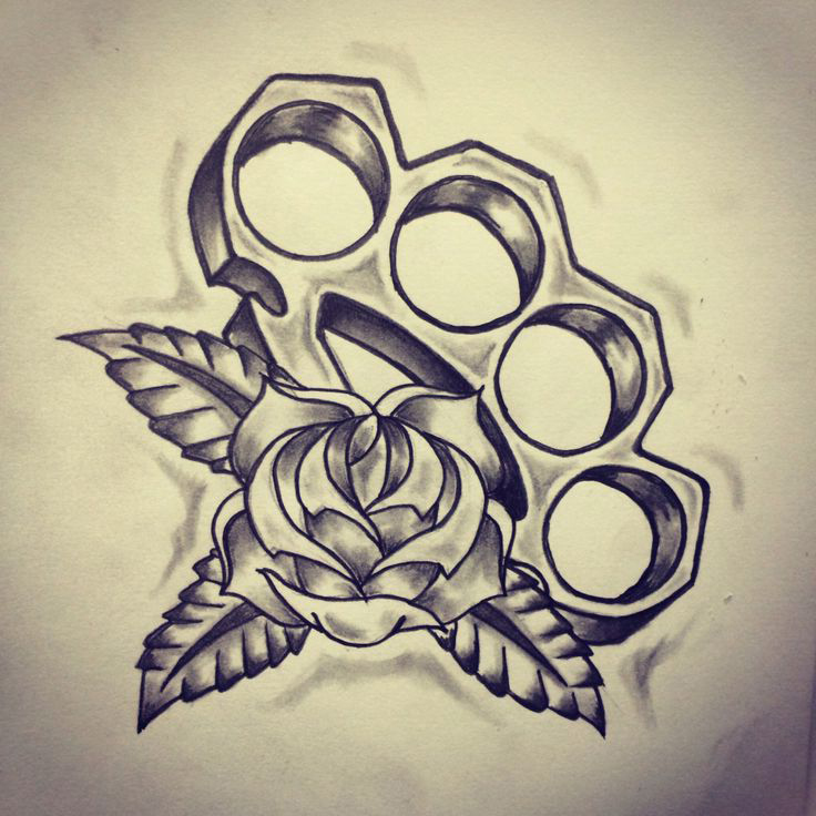 brass knuckles old school tattoo sketch dubuddha org. Black Bedroom Furniture Sets. Home Design Ideas