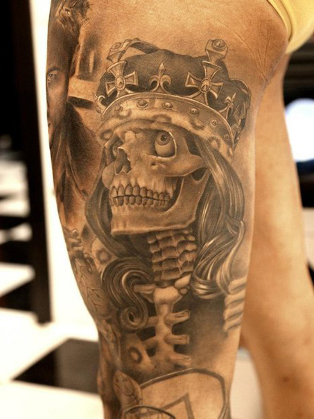 skeleton king chicano tattoo best tattoo ideas