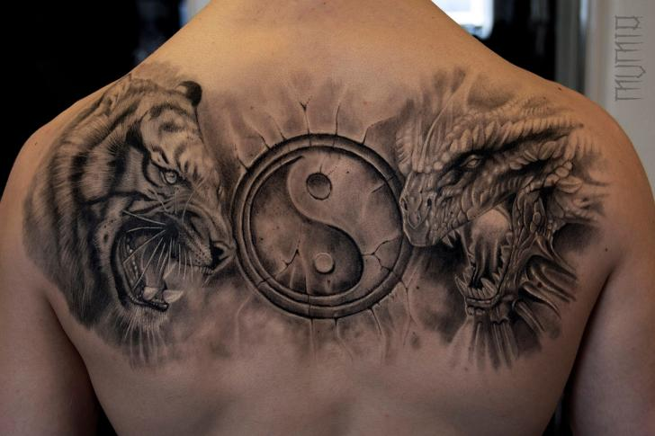 Татуировки на спину тигр
