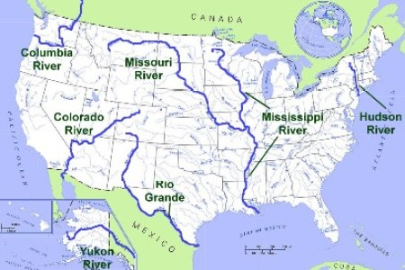 US Rivers EnchantedLearningcom List Of Longest Rivers Of The - Rivers on the us map
