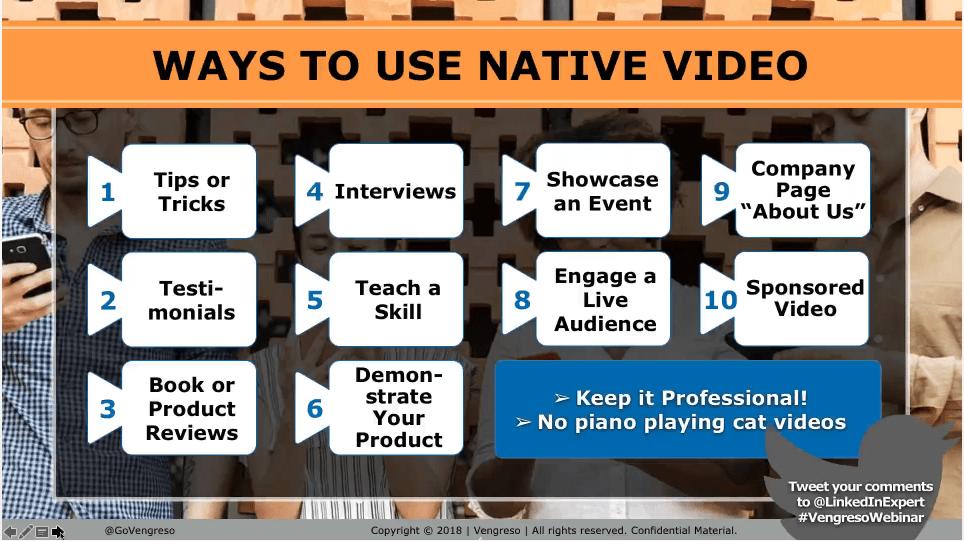 LinkedIn Native Video Tips