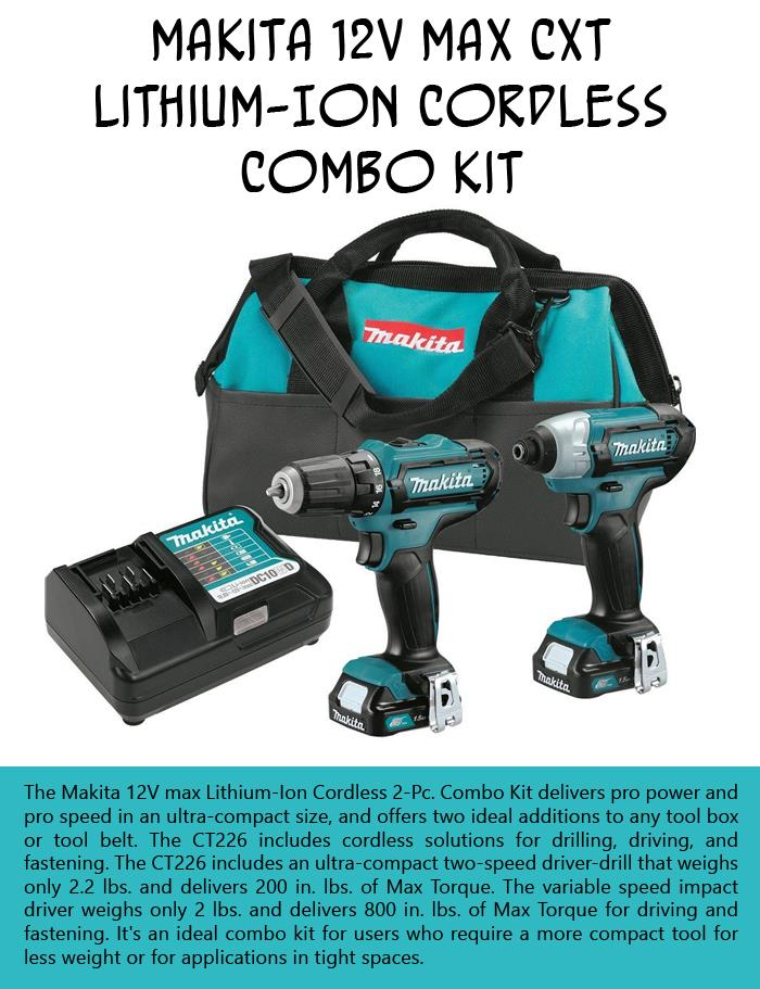 Makita 12V Max CXT Lithium-Ion Cordless Combo Kit