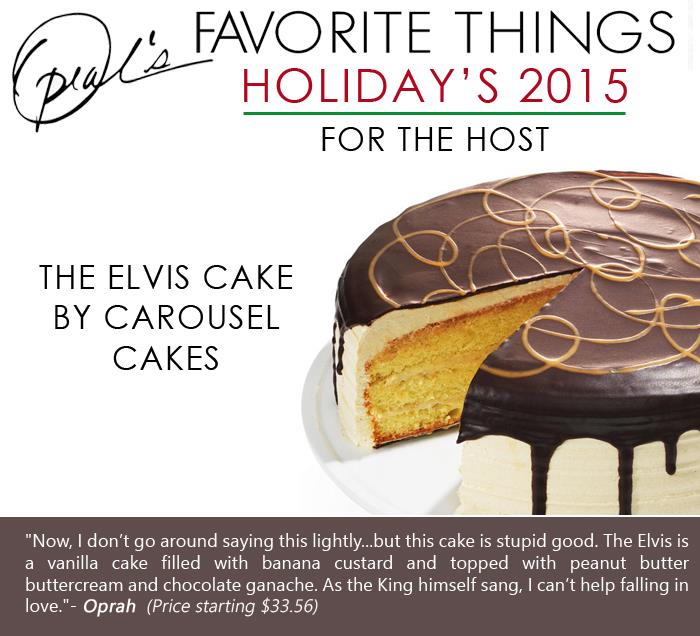Oprah's Favorite Things - The Elvis Cake by Carousel Cakes