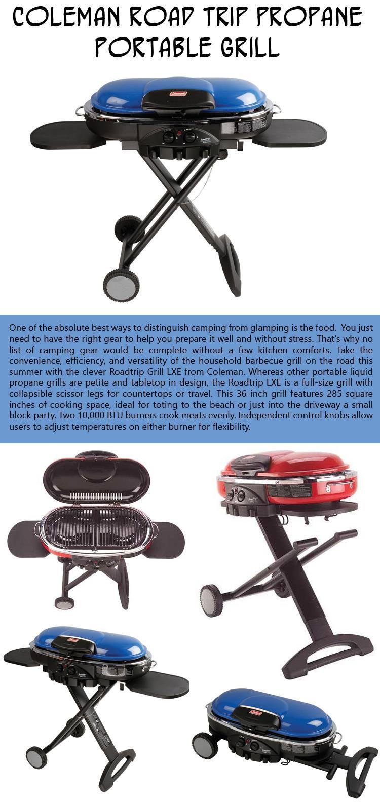 5- Coleman Road Trip Propane Portable Grill