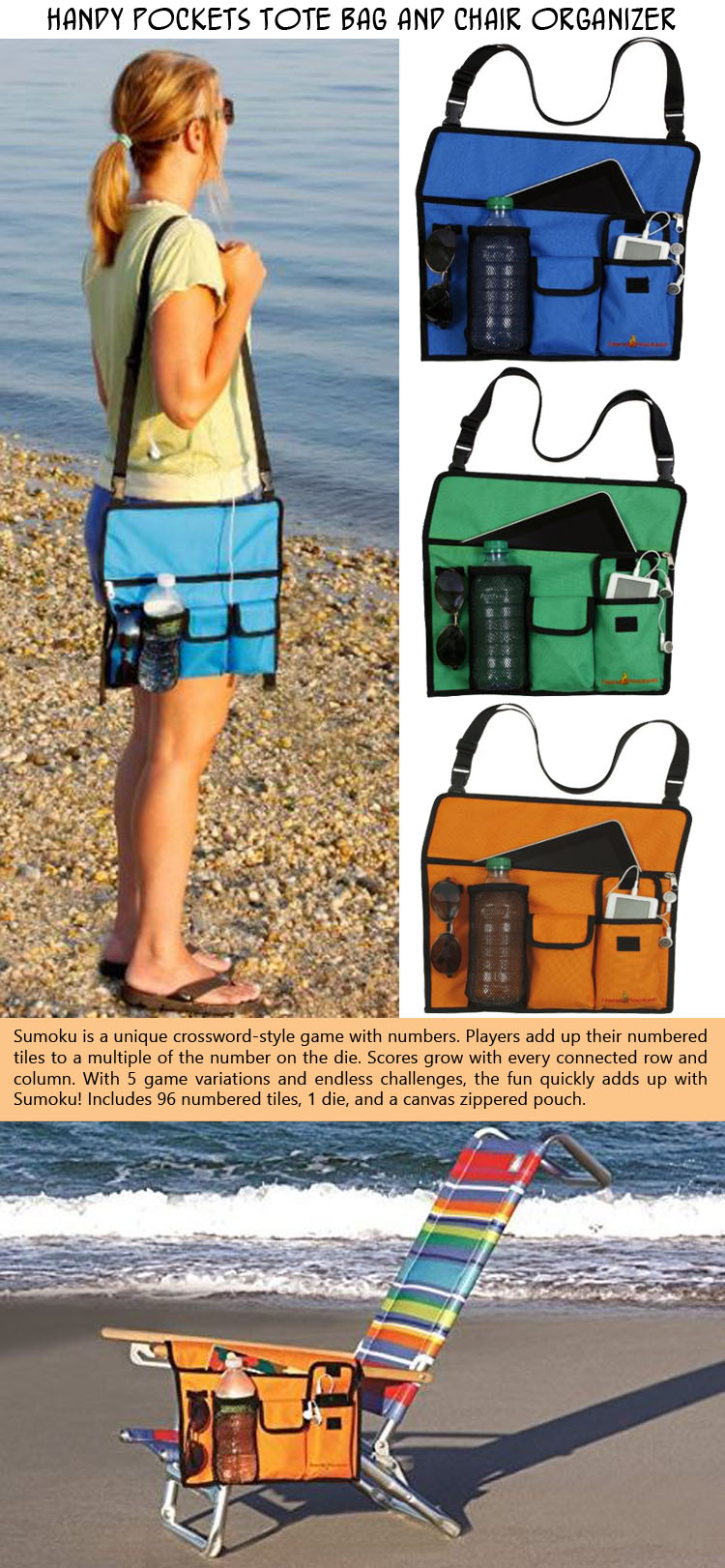 The handy pocket tote bag