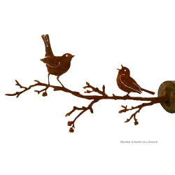 Small Crop Of Bird On A Branch