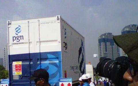 Mobile Refueling Unit (MRU) milik PGAS yang mulai beroperasi di Jakarta sejak 22 Juni 2013.