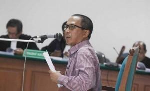 Bachtiar Abdul Fatah, terdakwa kasus bioremediasi PT CPI.