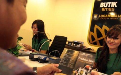 Salah satu Butik Ems Logam Mulia ANTM yang sudah beroperasi.