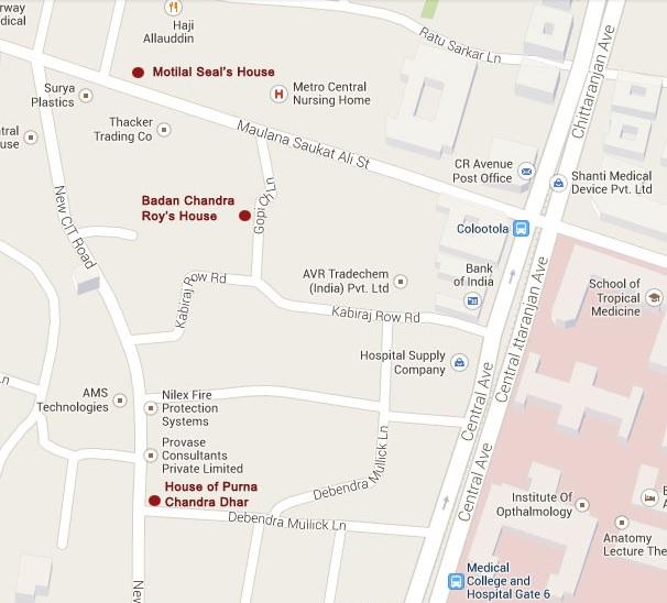 bonedi bari kolkata location map