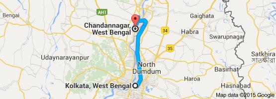 Kolkata to Chandanagar