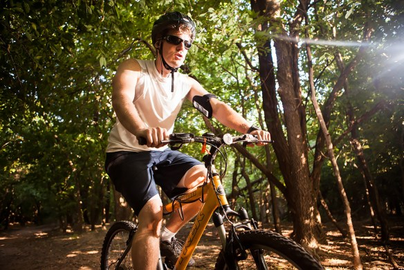 I love exercising with my bike on trails