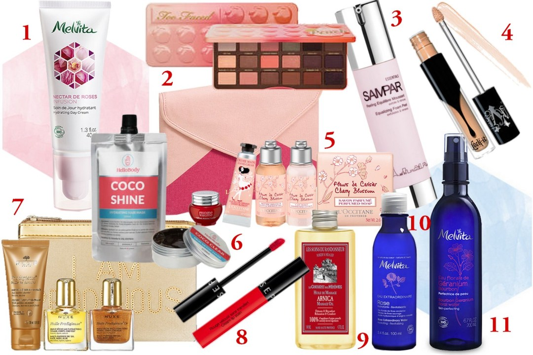 WISHLIST BEAUTE FEVRIER 2017 BLOG MODE BORDEAUX CORSE COUPLE LIFESTYLE MELVITA SEPHORA L'OCCITANE COUVENT DES MINIMES NUXE HELLO BODY SAMPAR MAC