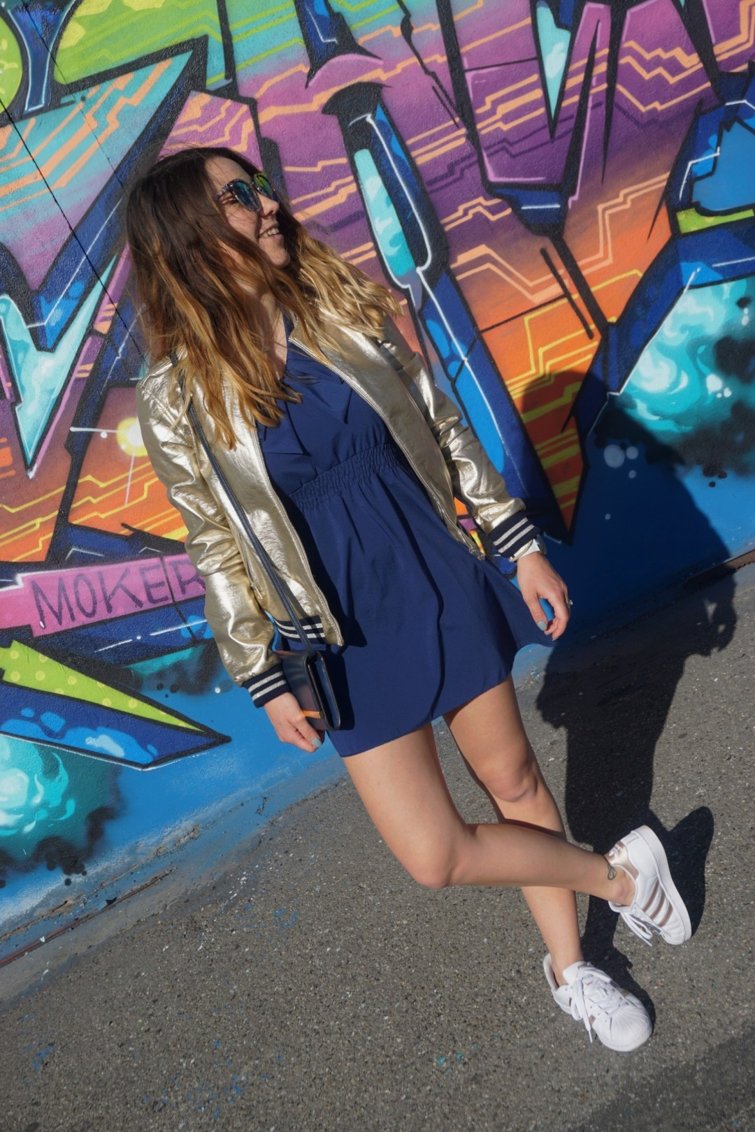 LOOK SPORTWEAR CHIC GOLD SHOOTING PHOTO BLOG MODE BLOGUEUSE BORDEAUX STREET ART BACALAN 16
