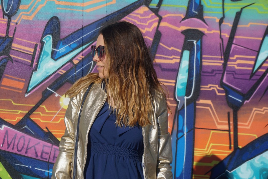 LOOK SPORTWEAR CHIC GOLD SHOOTING PHOTO BLOG MODE BLOGUEUSE BORDEAUX STREET ART BACALAN 17