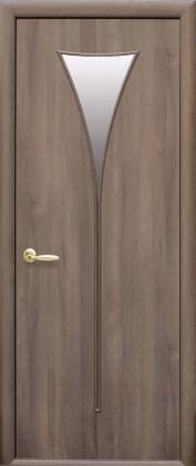 Двери Бора Новый Стиль золотая ольха со стеклом