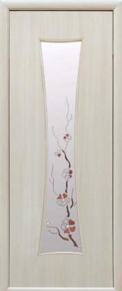Двери Часы Новый Стиль дуб жемчужный со стеклом Р1