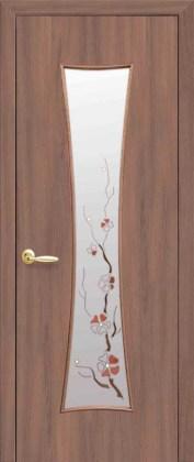 Двери Часы Новый Стиль Ольха 3D со стеклом Р4