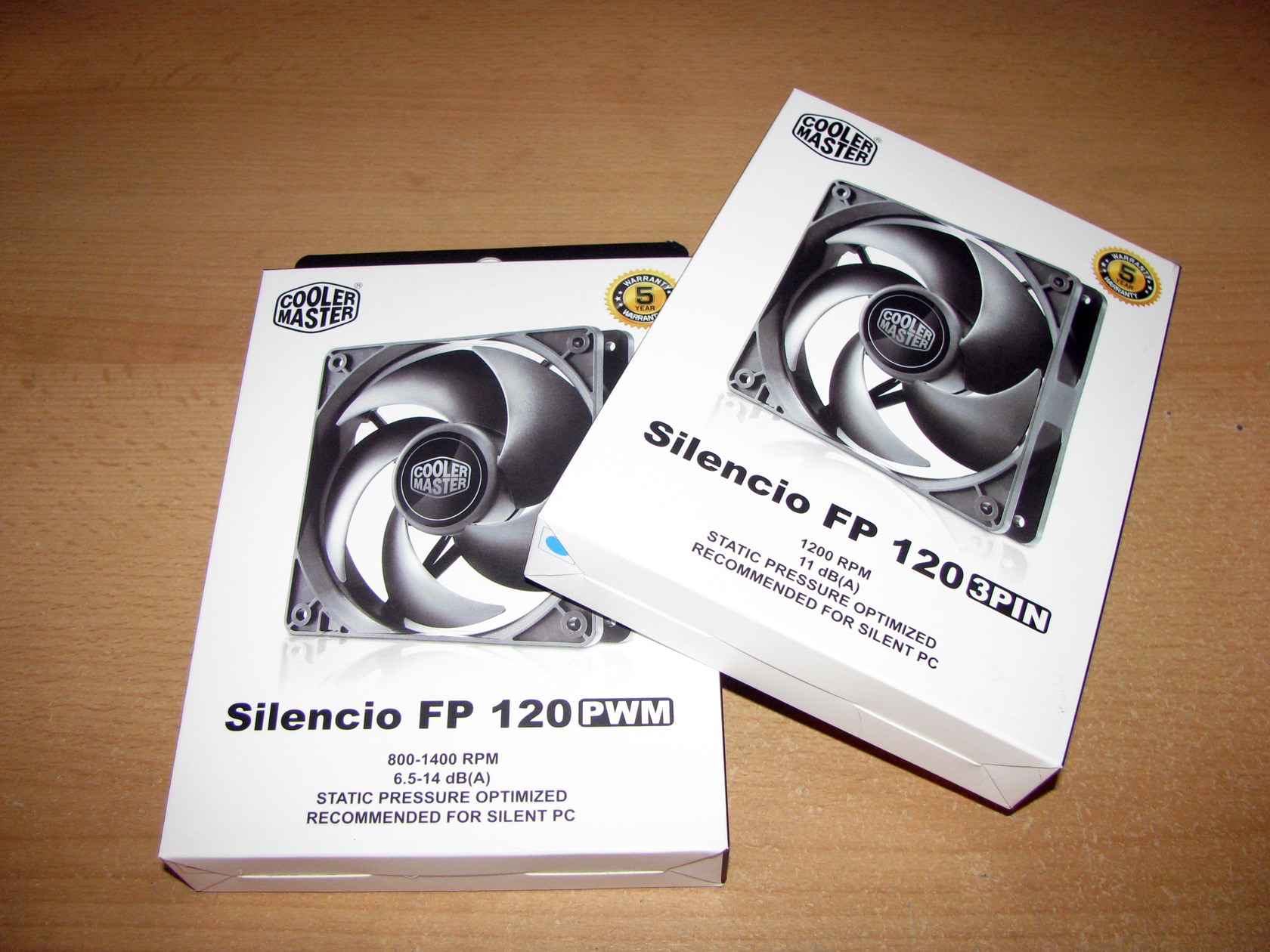 Cooler Master Silencio FP 120 3pin and FP 120 PWM – Test and Review