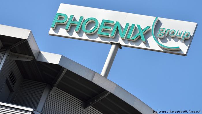 Mannheim Logo des Pharmahändlers Phoenix