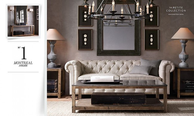 the look for less restoration hardware living room dwell beautiful
