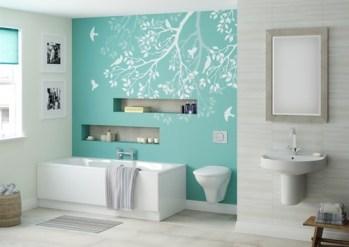 Color trend aqua home decor dwell beautiful for Aqua colored bathroom ideas