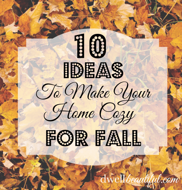 10 Cozy Home Ideas for Fall!