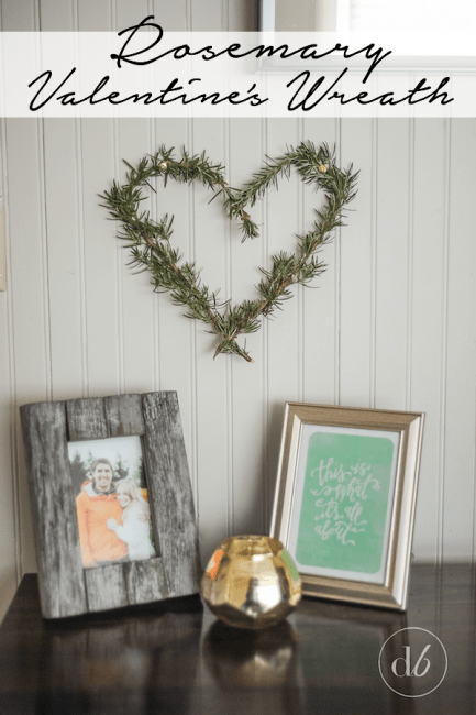 Rosemary Valentine's Wreath from Dwell Beautiful | Your Turn to Shine Link Party Feature at anderson + grant