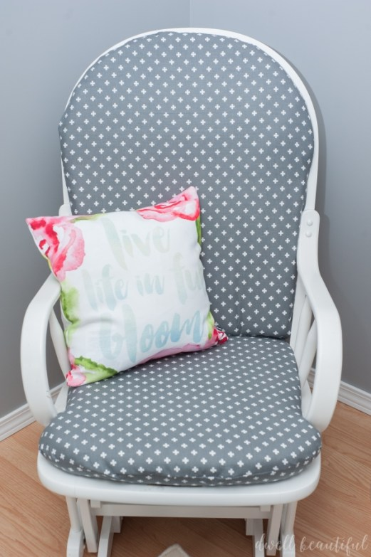 Rocking chair reupholstery 12