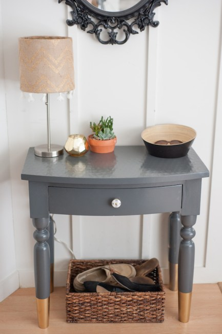 From safari to scandinavian beauty an entry table for Painted foyer tables