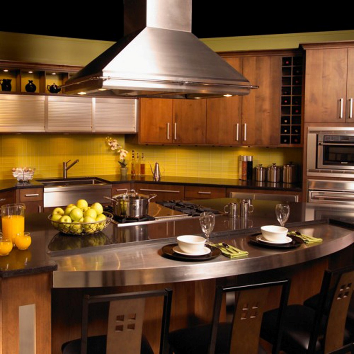 kitchen countertop inserts stainless steel kitchen countertops Kitchen Countertops Decorating Ideas Cool Counter Stools Metal