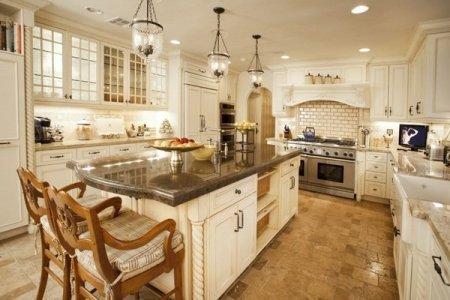 mediterranean kitchen design ideas tile flooring white kitchen cabinets