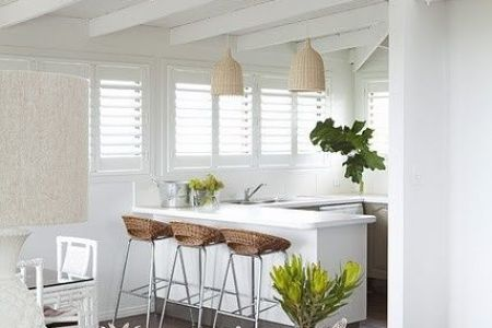 modern tropical beach style kitchen