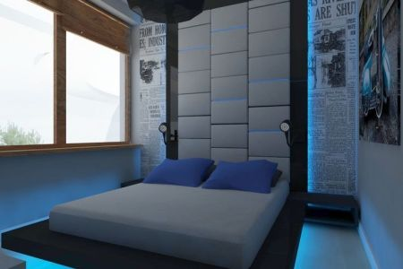 bedroom for young man