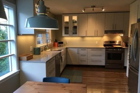 ikea modern kitchen makeover