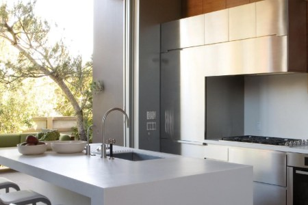 opened modern small kitchen design pictures