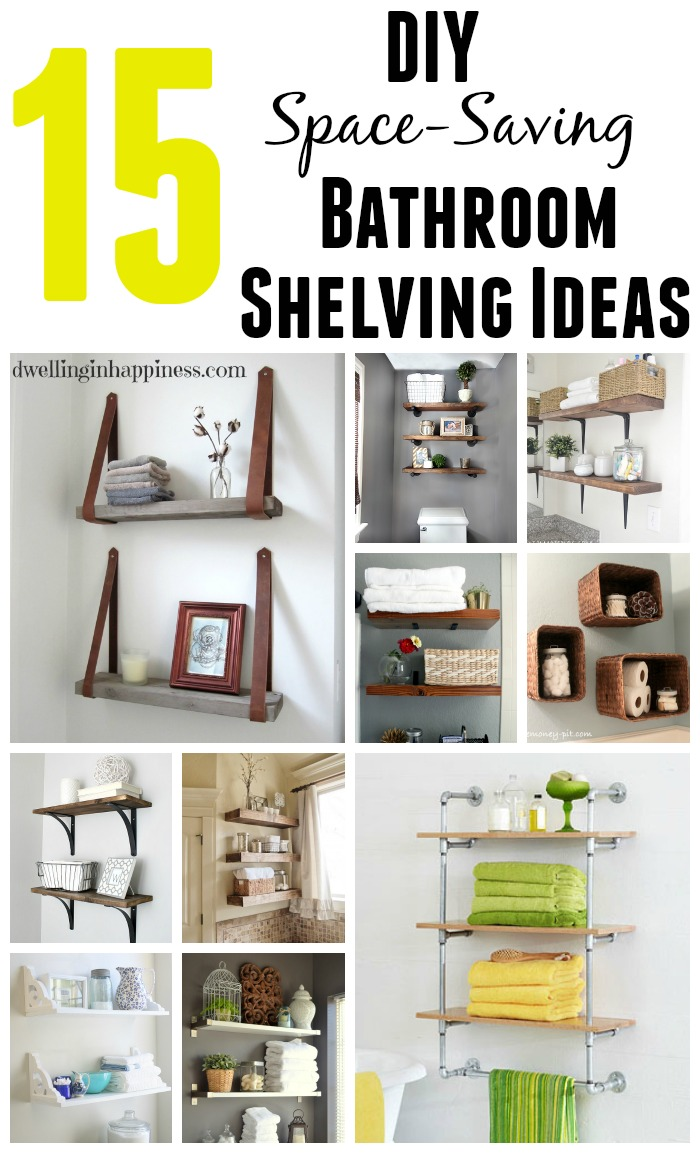15 diy space saving bathroom shelving ideas for Diy bathroom ideas for small spaces