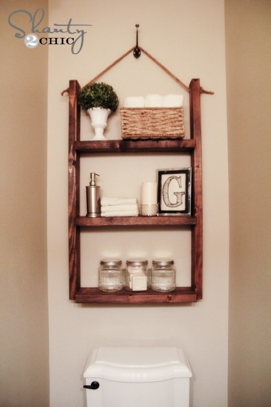 Elegant Space Saving Wall Mounted Bathroom 3Tier Shelf End 1272017 51500