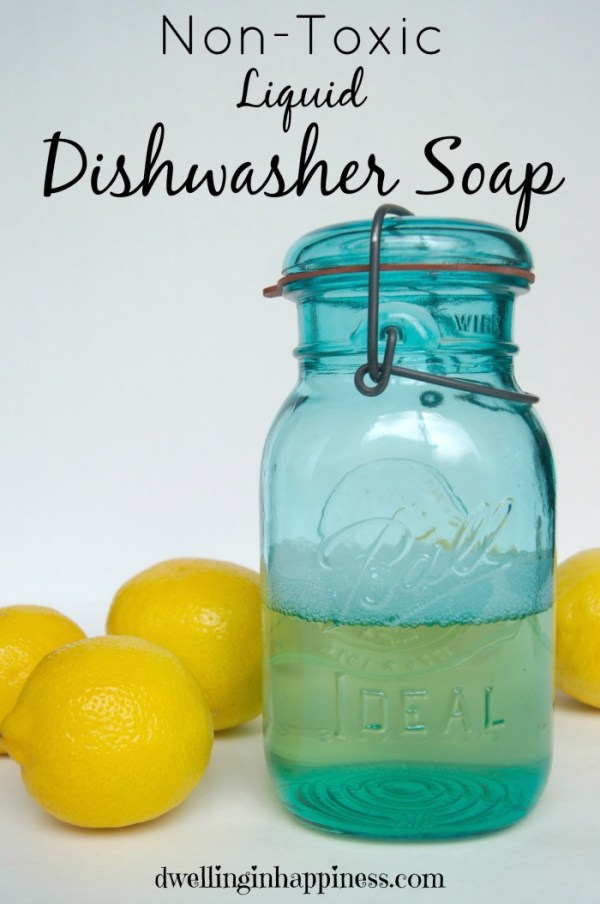 Non Toxic Liquid Dishwasher Soap Dwelling In Happiness