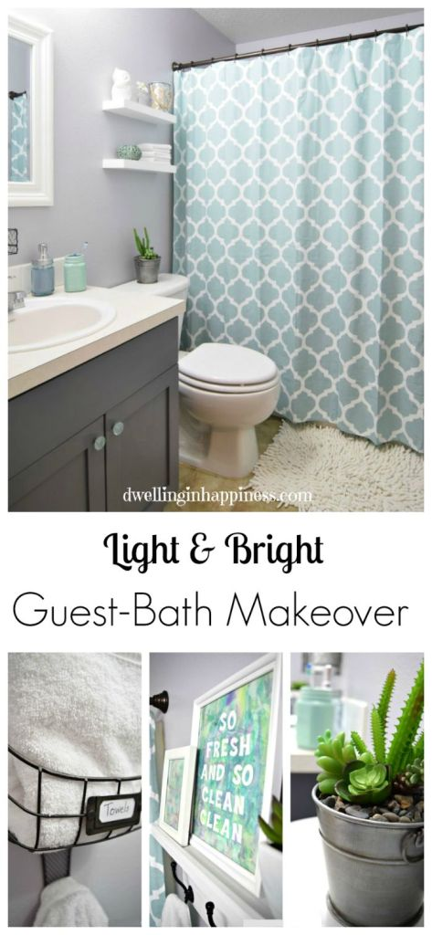 Light Amp Bright Guest Bathroom Makeover