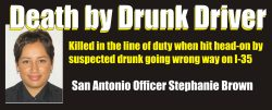Death by drunk driver Officer Stephanie Brown