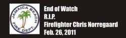 End of Watch Firefighter Chris Norregaard Galveston TX killed by drunk