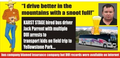 Karst Stage hired DUI driver for bus
