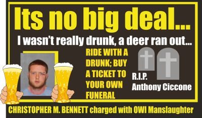 Christopher M Bennett OWI manslaughter