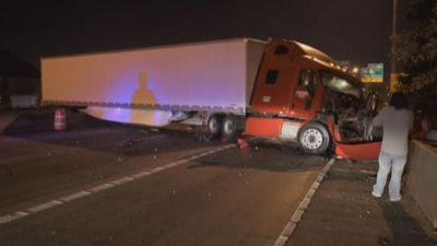 Portland Police say Big Rig driver DUI in I-84 crash in Ore 101215