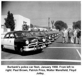 Burbank Police fleet 1950